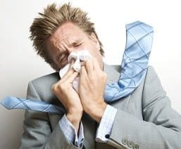 Employee with Flu